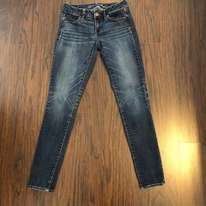 American Eagle jeans jegging super stretch size 2